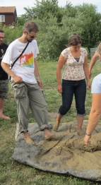 Christine and Michael during their PDC with Midwest Permaculture